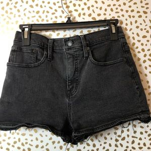 MADEWELL black high-rise jean shorts SZ 26